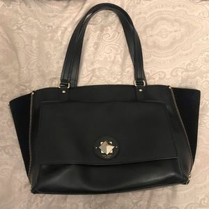 Kate Spade leather and suede handbag